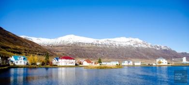 village fjord montagne - Dettifoss, Seydisfjordur et la route de l'est - Islande en 8 jours - Islande, Europe