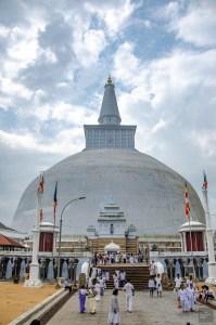anuradhapura stupa blanche - vieilles cites, temples et monasteres - Sri Lanka, au cœur de l ile - Asie, Sri Lanka