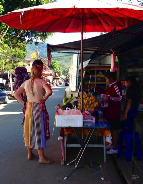 Marchand de fruits - Les Backpackers et les nombreux Hostels - Pai et la fraicheur des montagnes - Asie, Thaïlande