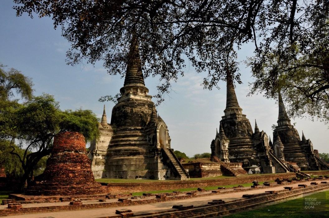Les trois pagodes - Les Temples (Wat) - Le parc historique d'Ayutthaya - Destination, Asie, Thaïlande