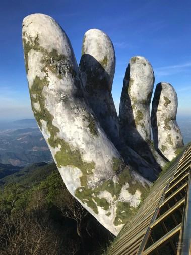 La main - Le pont - Faire le Pont à Ba Na Hills - Asie, Vietnam