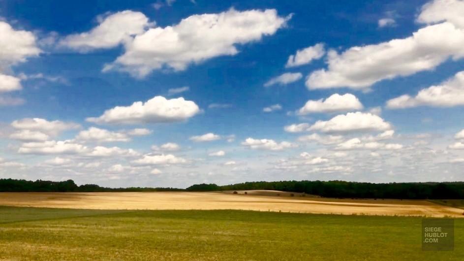 Vue du train - Une région du Sud-Ouest - Destination Nouvelle-Aquitaine - France, Europe
