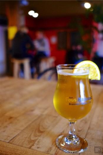 Bière en fût - Aux Fous Brassant - Un épicurien à Rivière-du-Loup - Amérique du Nord, Canada, Québec, Bas St-Laurent