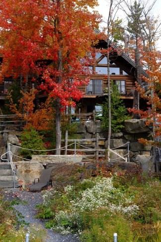 Chalet en bois rond - NRJ Spa Nordique - Balade en Beauce - Amérique du Nord, Canada, Québec, Chaudière-Appalaches