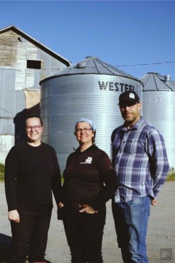 La famille propriétaire - Boeuf à la Ferme - Un épicurien à Rivière-du-Loup - Amérique du Nord, Canada, Québec, Bas St-Laurent