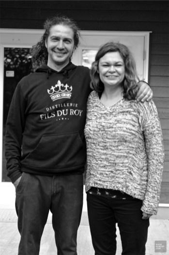 Jonathan et Hélène - Distillerie Fils du Roy - Un épicurien à Rivière-du-Loup - Amérique du Nord, Canada, Québec, Bas St-Laurent