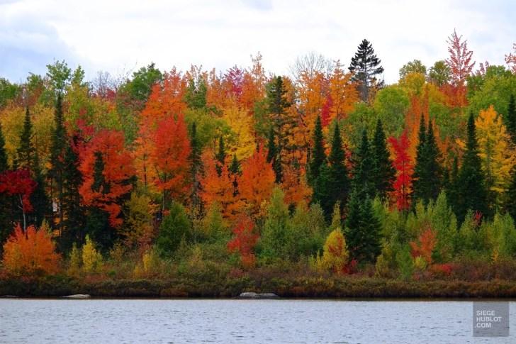 Vue sur le lac - NRJ Spa Nordique - Balade en Beauce - Amérique du Nord, Canada, Québec, Chaudière-Appalaches