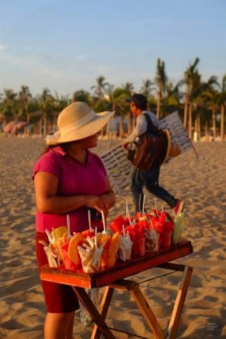 Fruits sur la plage