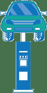 Podnośnik samochodowy mobilny - ikona