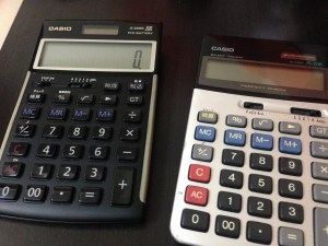 2台の電卓