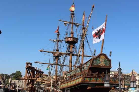 ディズニーシーの船の遊び場