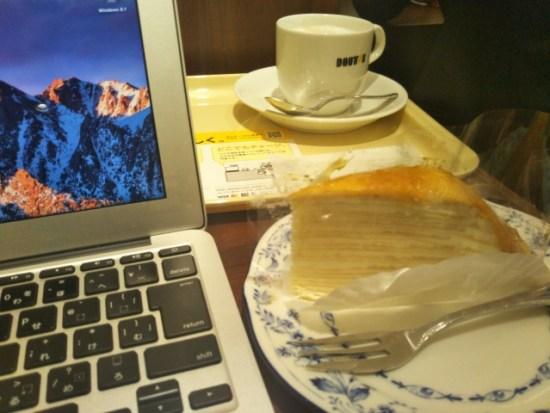MacBookAirとおやつ
