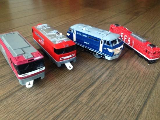 おもちゃの電車