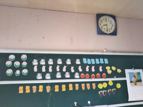 時計がある教室