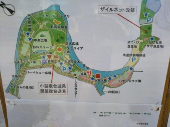 水元公園の案内図