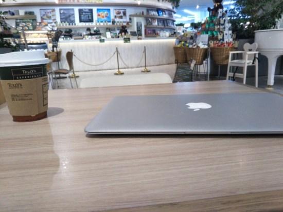 タリーズでMacBookAir