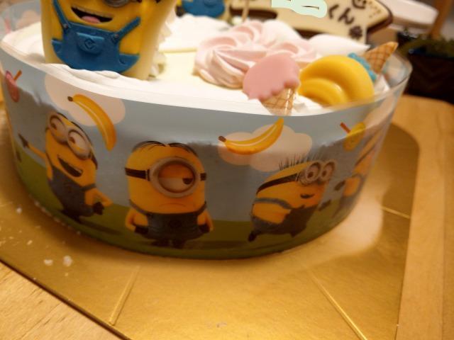ミニオンのアイスケーキ