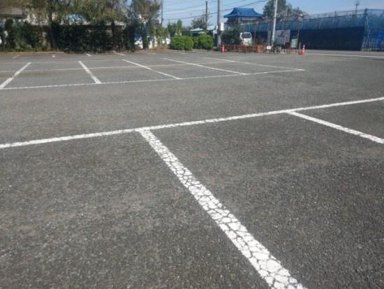 ありのみコースの駐車場