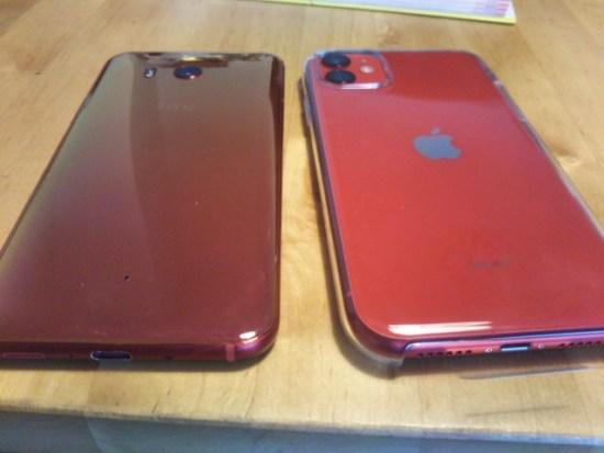 iPhone11とhtcu11