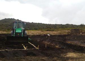 Excavación inicial Filtro Verde Chingaza