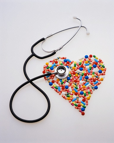 Stethoscope and Medicated Pills