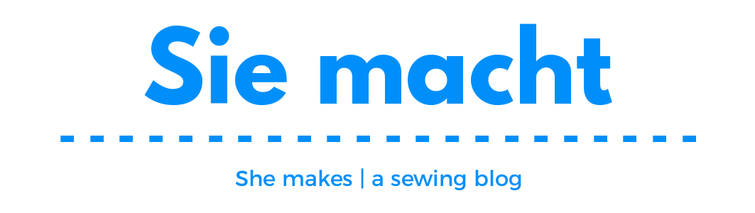 Image header for Sie macht, a sewing blog
