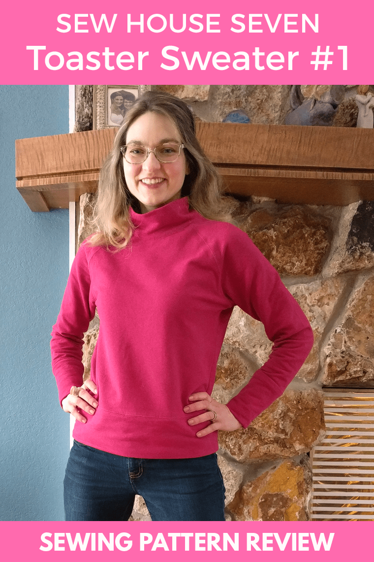 The Sew House Seven Toaster Sweater #1 is a lean and feminine sweatshirt that you'll want to make again and again. Keep reading for tips on sewing your own Toaster #1.