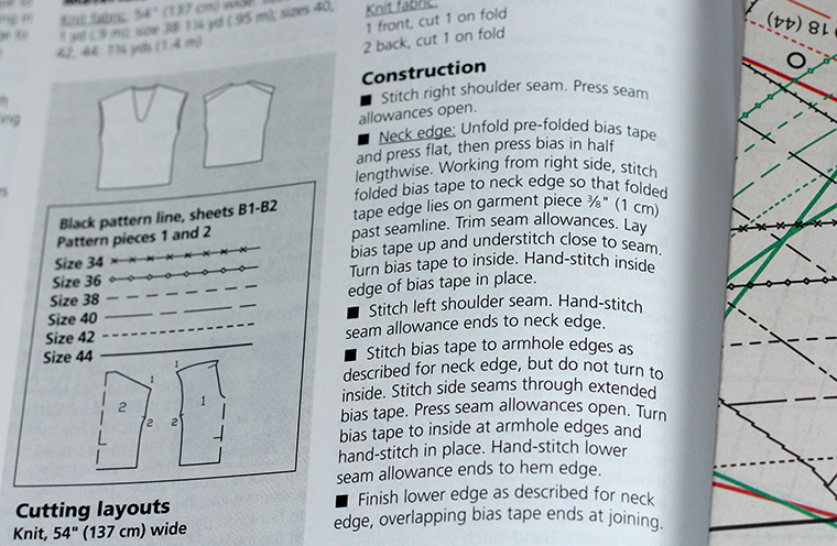 I strayed from the construction notes when sewing my BurdaStyle 04/2014 #109 knit V-neck pullover top.