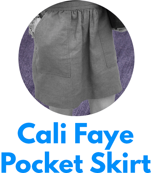 The Cali Faye Pocket skirt is one of my capsule wardrobe sewing patterns.