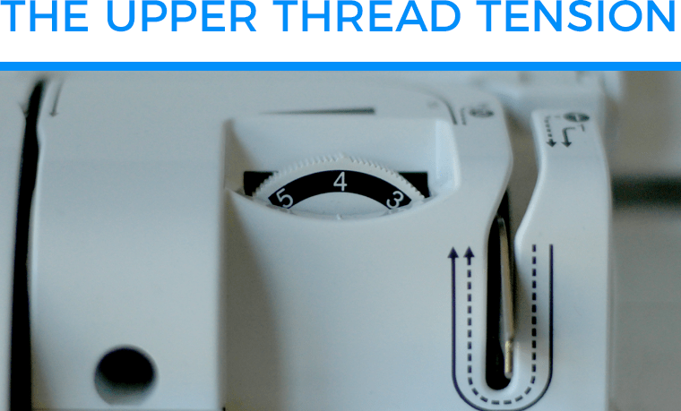 I varied the upper thread tension for my test sewing knits with a sewing machine.