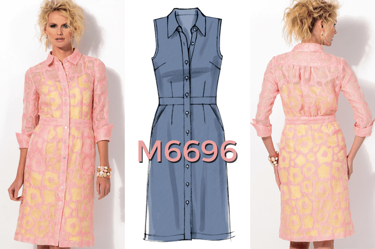 McCall's M6696 shirtdress pattern.