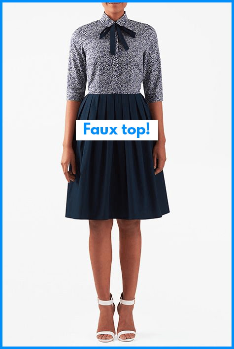 An easy color-blocking tip is use existing pattern pieces and seams.