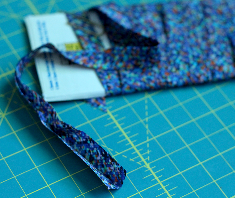 Single bias tape is how I finished the hem of my knit shirt.