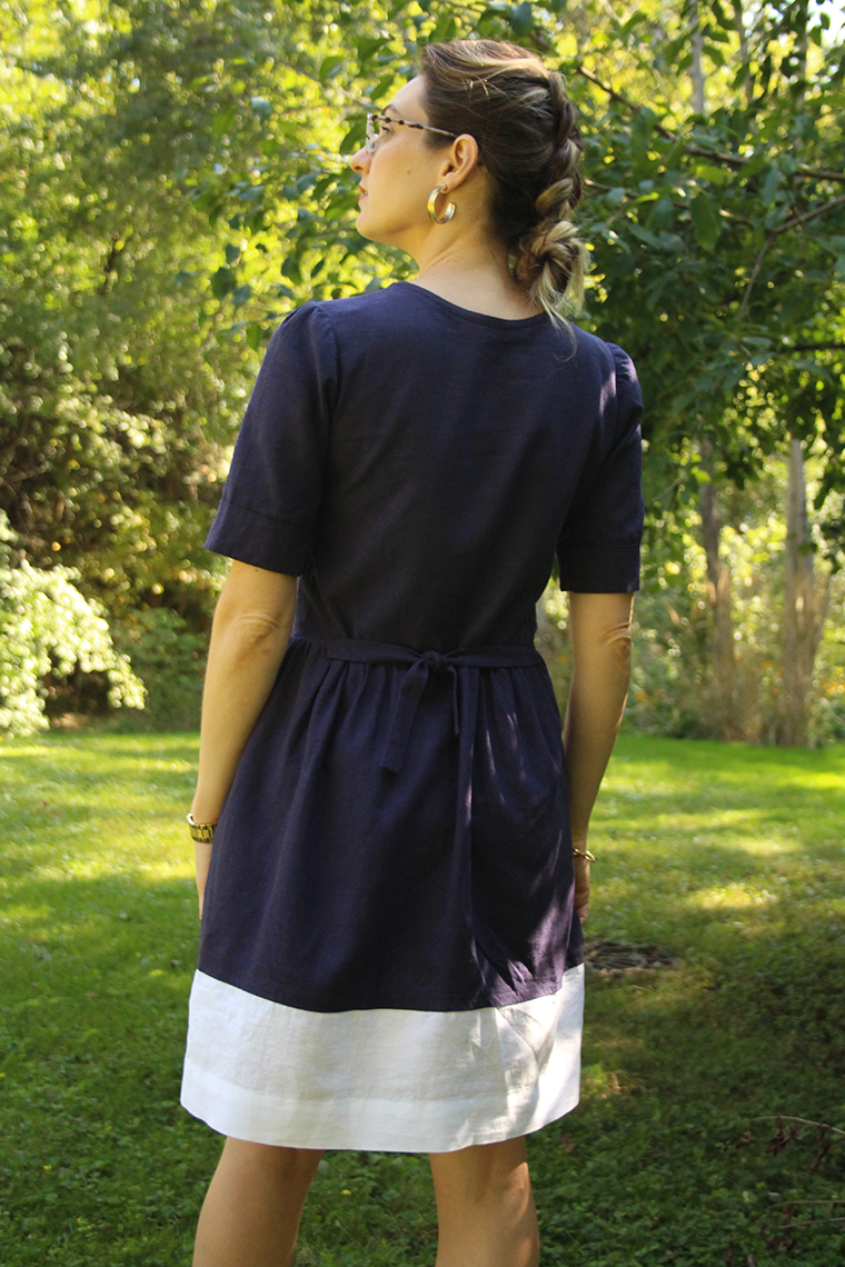 I added extra width to my Darling Ranges shirt dress by decreasing the sleeve seam allowance. This was a poor decision.