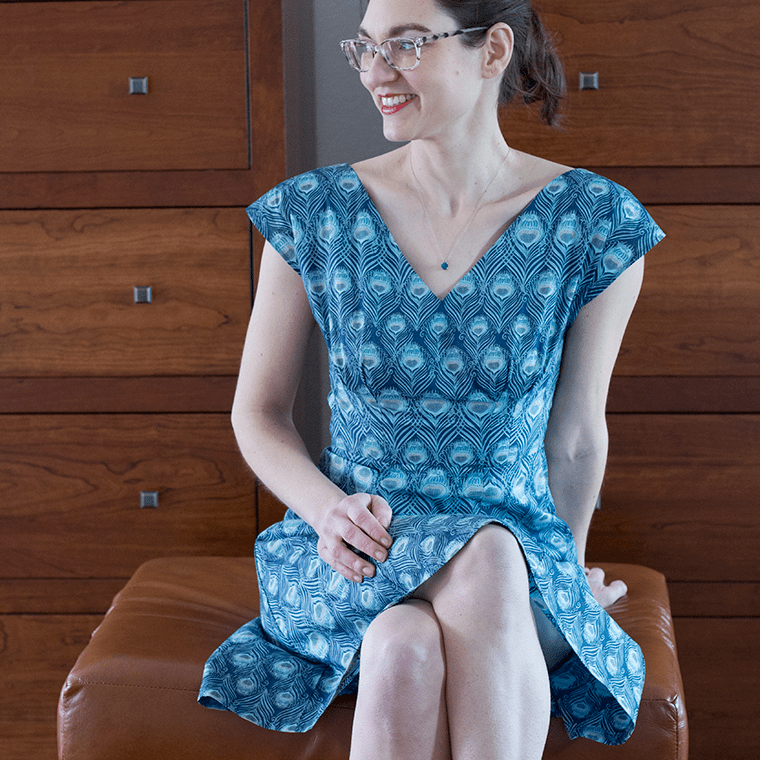 This By Hand London Anna dress is sewn in Liberty of London cotton Tana lawn.
