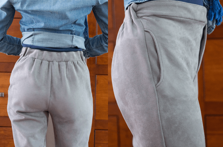 The waistband of these Named Ruri sweatpants was a challenge to sew.