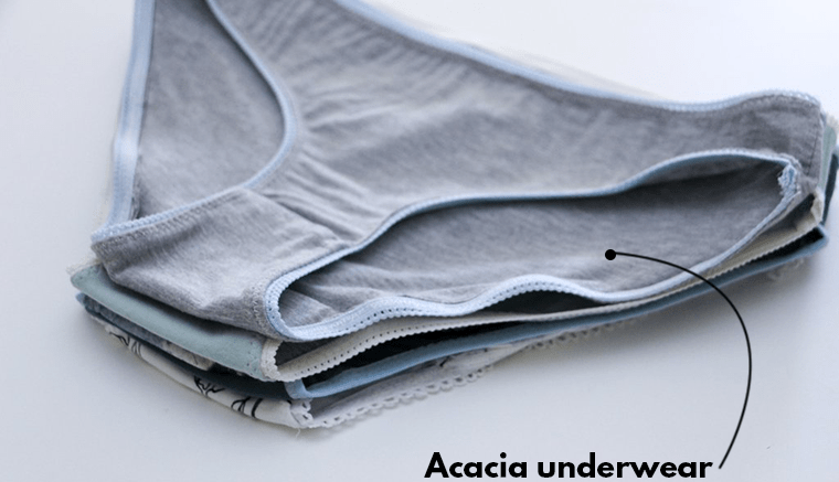 When sewing for your period, free patterns are fun to experiment with. The Acacia panties are free when you subscribe to Megan Nielsen's emails.