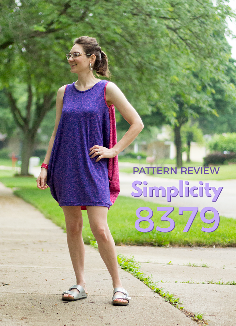 The Simplicity 8379 tank dress is a fast and easy sewing project.