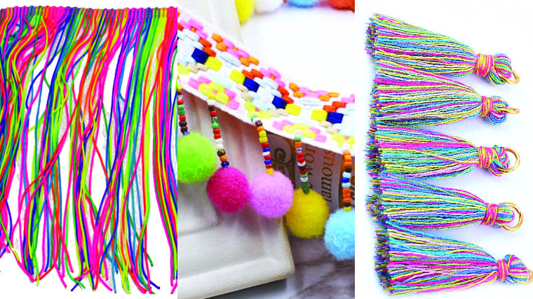 Try sewing solid color garments with rainbow trim.