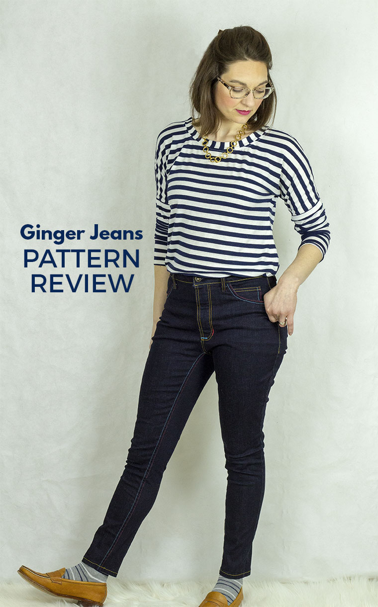 The Ginger jeans pattern from Closet Case is a curve-hugging tour de force. Every body needs more jeans in their life! Keep reading this post for details on construction and modifications.
