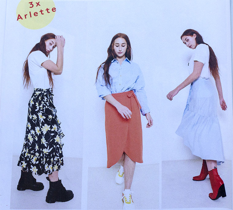 Fibre Mood's Arlette skirt has three variations.