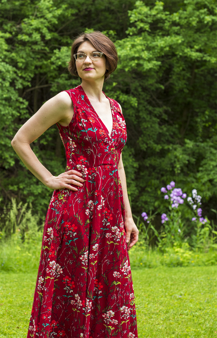 "This maxi dress from ""Boundless Style"" is made from rayon from Harts Fabric."