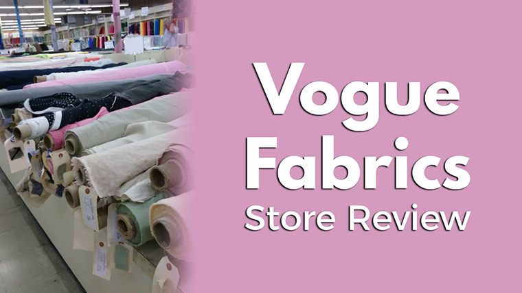 Vogue Fabrics, in Evanston, Illinois, is my closest proper fashion fabric store. I try to visit a couple times a year.