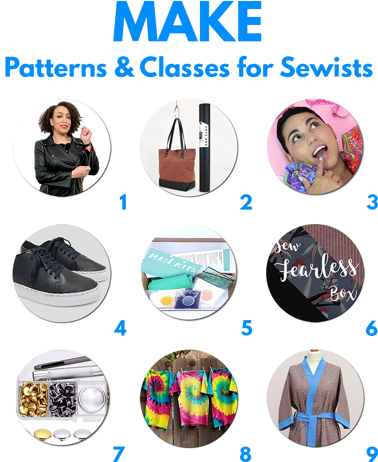 Build a sewing practice with PRACTICE! Sewing patterns and sewing classes are welcome gifts for sewers.