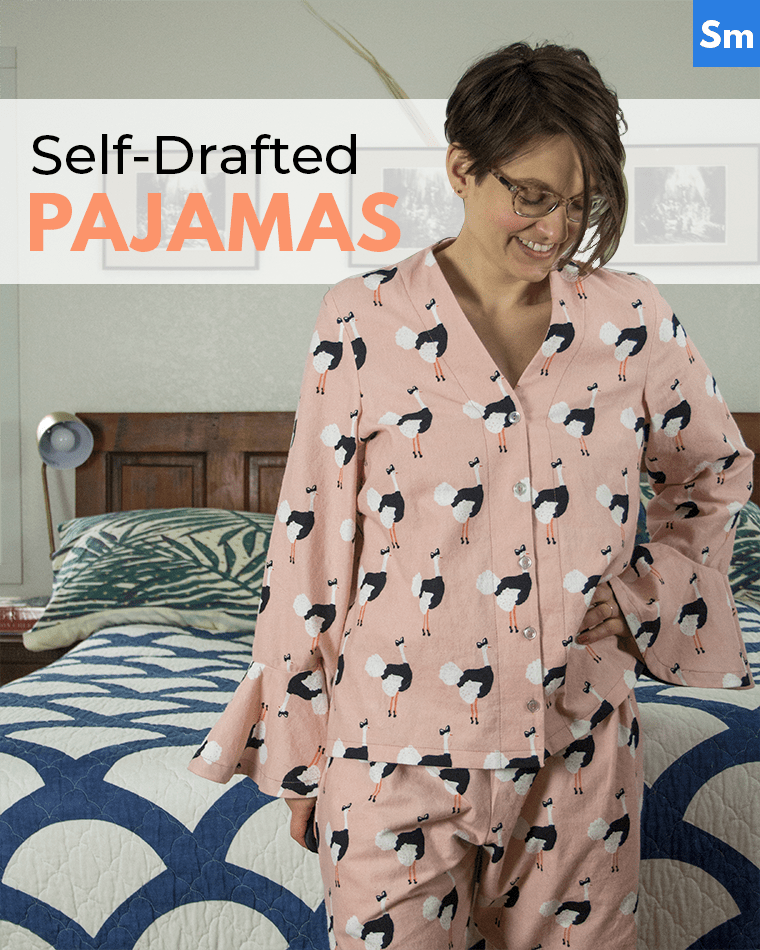 Check out my self-drafted pajamas! They're my first self-designed sewing pattern, drafted from my body measurements.