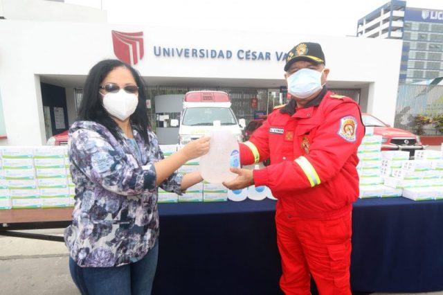 DONACIÓN Bomberos voluntarios del Perú UCV