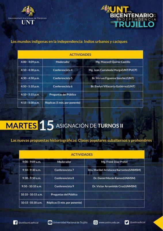 programa UNT Bicentenario Independencia Trujillo 1