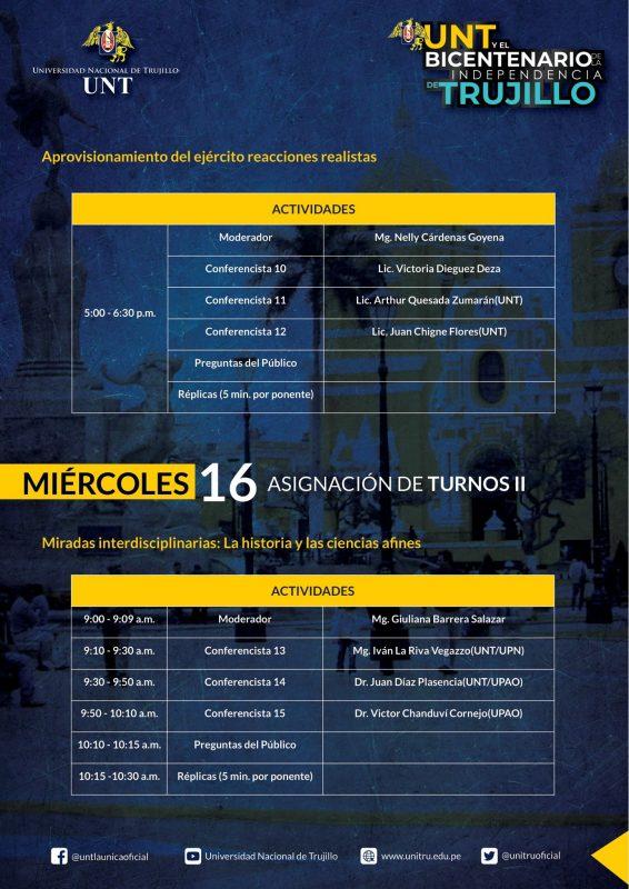 programa UNT Bicentenario Independencia Trujillo 2