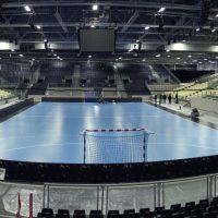 Image : Gymnase futsal avec tribune vu des tribunes