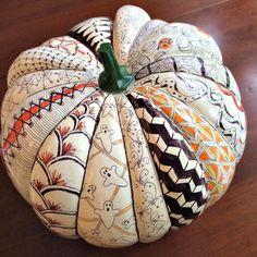 Decorated Craft Pumpkin